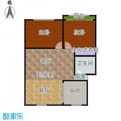 中兴公寓87.00㎡面积8700m户型