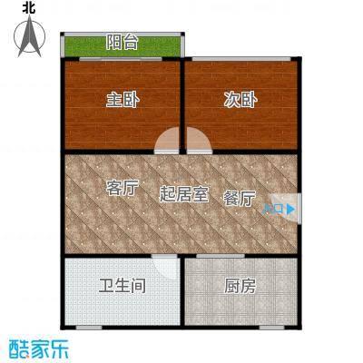 中兴公寓65.00㎡面积6500m户型