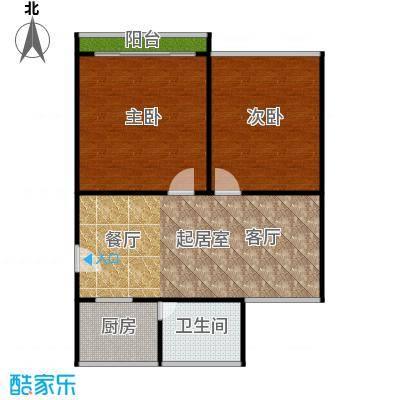 中兴公寓66.00㎡面积6600m户型