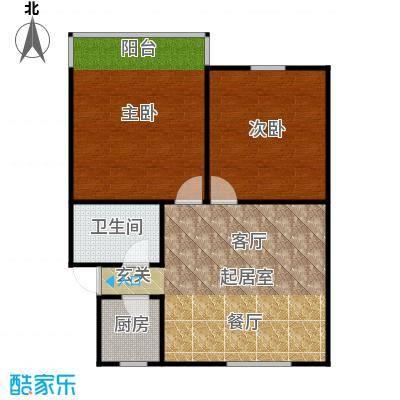 中兴公寓68.00㎡面积6800m户型
