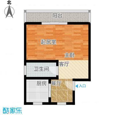 国都公寓42.00㎡面积4200m户型