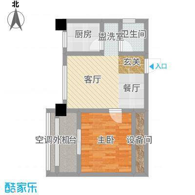 香麓丽舍48.30㎡面积4830m户型