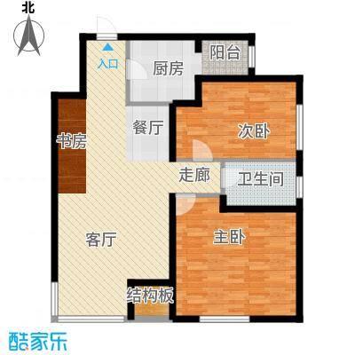 银园公寓98.00㎡面积9800m户型