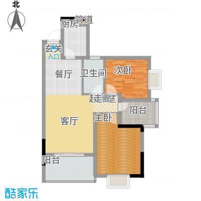 鑫天山城明珠88.89㎡1/2/3/5栋B面积8889m户型