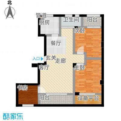海棠公寓87.00㎡面积8700m户型