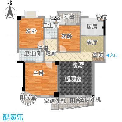 天峰名苑98.00㎡面积9800m户型