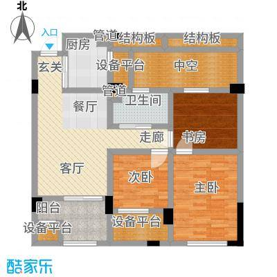 海棠公寓88.00㎡面积8800m户型