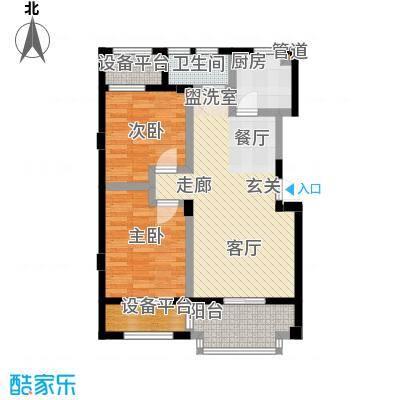 海棠公寓78.00㎡面积7800m户型