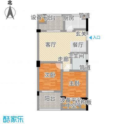 海棠公寓90.00㎡面积9000m户型