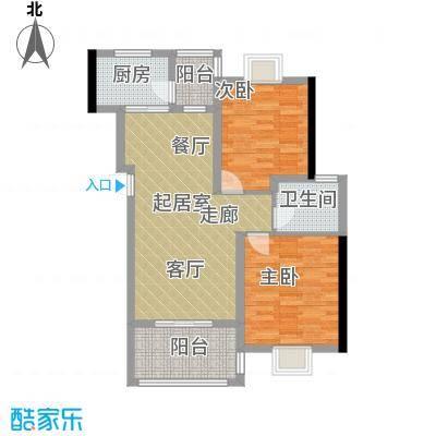 景江雅苑88.00㎡一面积8800m户型