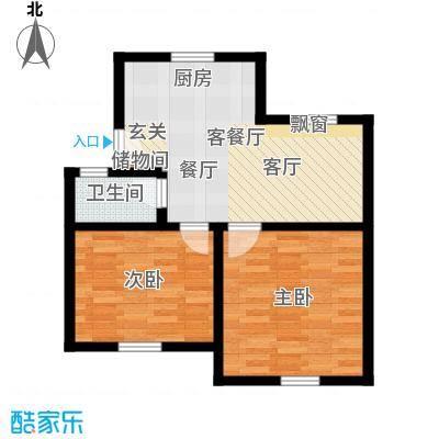 机神新村58.00㎡面积5800m户型