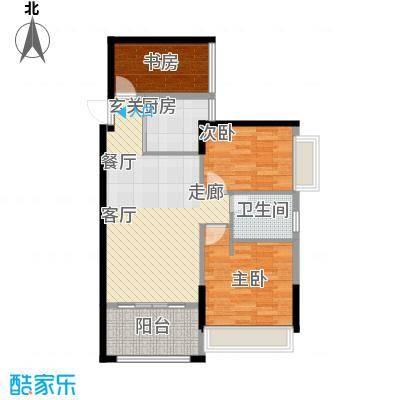 兰亭峰景90.00㎡面积9000m户型