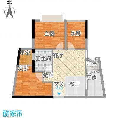 兰亭峰景66.00㎡面积6600m户型