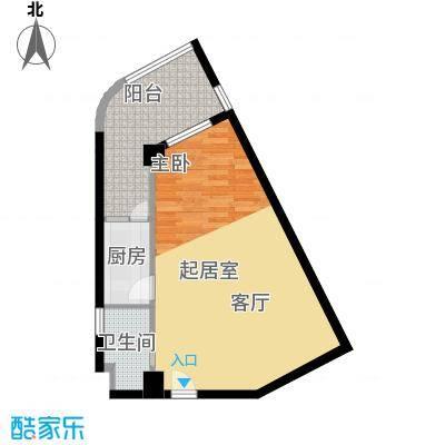 汀兰雅苑56.99㎡面积5699m户型