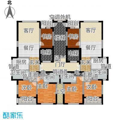 海威国际133.00㎡4#楼3单元3室2面积13300m户型
