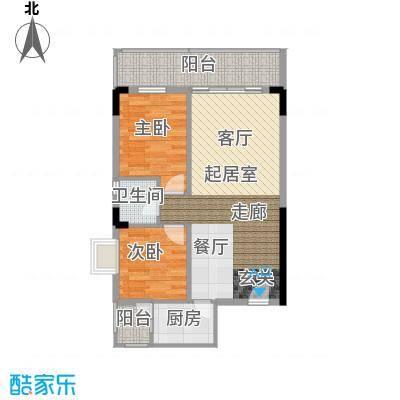 长坡社区71.00㎡户面积7100m户型