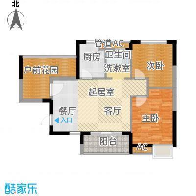 融科香山国际88.18㎡46#B2面积8818m户型