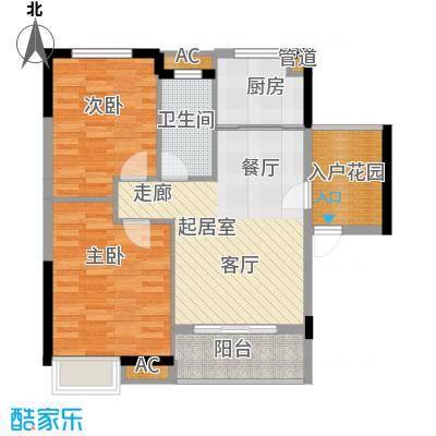 融科香山国际88.41㎡46#B1面积8841m户型