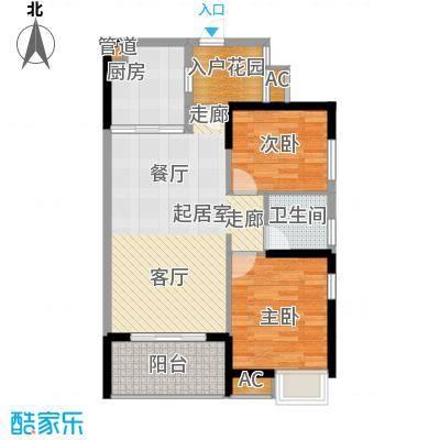 融科香山国际88.06㎡46#B3面积8806m户型