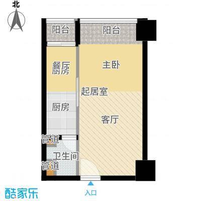 湘域中央57.39㎡面积5739m户型
