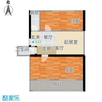 东都公寓65.00㎡面积6500m户型