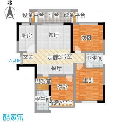 诚兴园104.00㎡1-4、8号栋户面积10400m户型