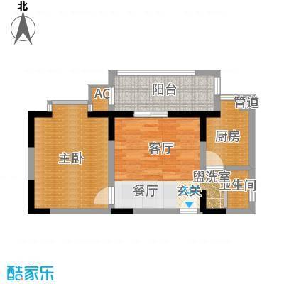 旺坤家园57.00㎡d面积5700m户型