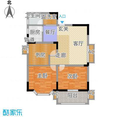 旺坤家园100.20㎡c面积10020m户型