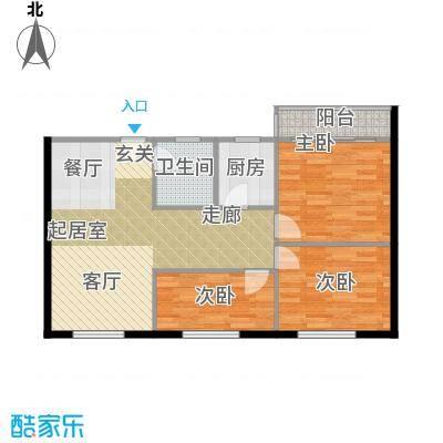 景芳新五区77.00㎡3面积7700m户型