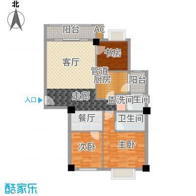 城市山水豪园113.40㎡9栋A1-3、A面积11340m户型