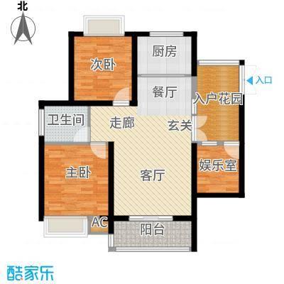 湘江世纪城融江苑118.00㎡面积11800m户型