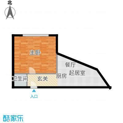 大都文苑风情51.00㎡面积5100m户型