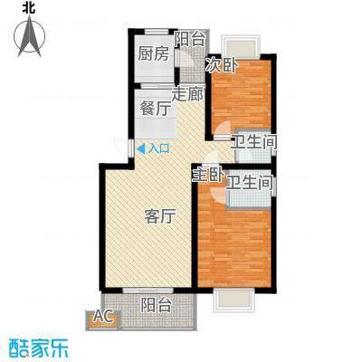 湘翰御舍88.82㎡L2-6面积8882m户型
