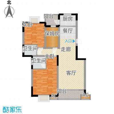 湘翰御舍114.12㎡N12面积11412m户型