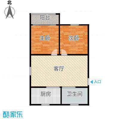 德胜新村67.00㎡面积6700m户型
