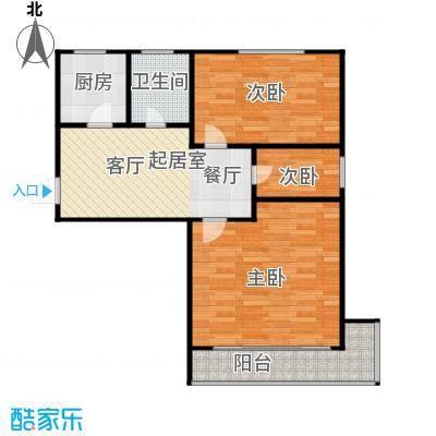 德胜新村59.00㎡面积5900m户型