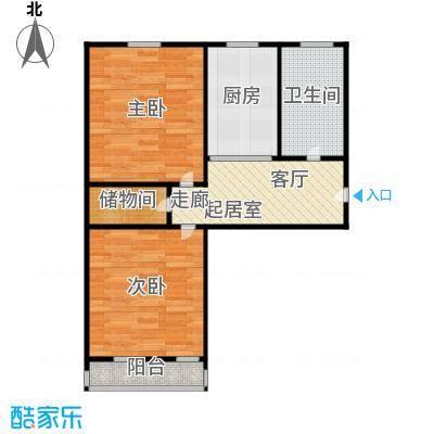 德胜新村57.00㎡面积5700m户型