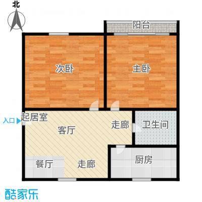 德胜新村56.00㎡面积5600m户型