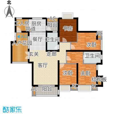 湘江世纪城临江苑157.00㎡面积15700m户型