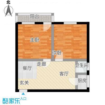 德胜东村55.00㎡面积5500m户型