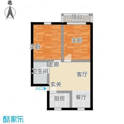 德胜东村65.00㎡面积6500m户型