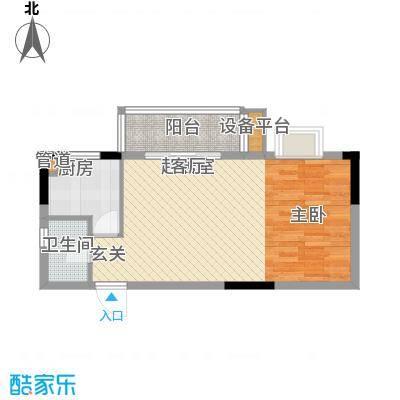 鑫天山城明珠55.30㎡1/3栋B4面积5530m户型