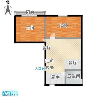 德胜东村86.00㎡面积8600m户型