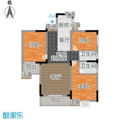 枫雅名苑128.24㎡面积12824m户型
