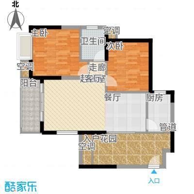 旭辉藏郡87.62㎡面积8762m户型