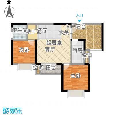 旭辉藏郡88.90㎡C21面积8890m户型