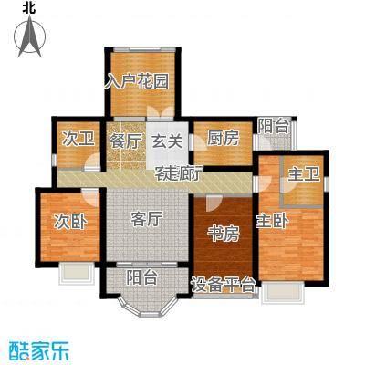 湘江世纪城融江苑120.00㎡面积12000m户型