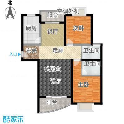 麓谷E家人103.55㎡H-3栋平面面积10355m户型