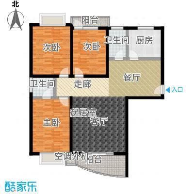 麓谷E家人126.65㎡DE-1栋平面面积12665m户型
