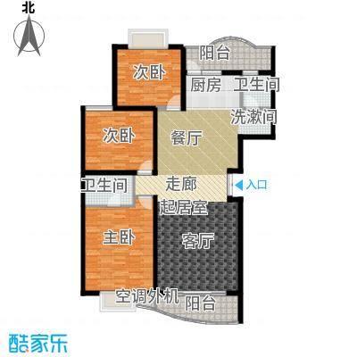 麓谷E家人127.32㎡A-1栋平面面积12732m户型